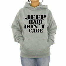 Hoodie Jeep Hair Dont Care Hooded Sweatshirt Jeep Wrangler Shirts Off Road Tees