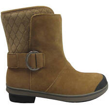 New Womens' Short Buckled Winter Boots Suede Shoes SZ 6 7 8 9 10 11 Brown