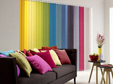"Plain Replacement Vertical Blinds Slats Louvres 89mm 3.5"" - All Colours"