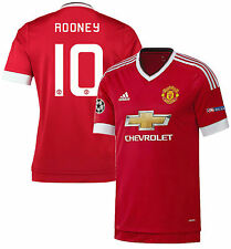 ADIDAS MANCHESTER UNITED W. ROONEY AUTHENTIC HOME ADIZERO UEFA CL JERSEY 2015/16