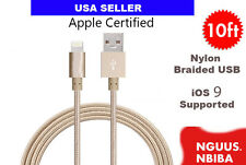 NEW 10 Foot Extra Long Gold USB Charger Cable Cord Data iPhone 6 plus 5S 5 5c
