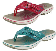 LADIES CLARKS TOE POST ADJUSTABLE STRAP SLIPON SUMMER MULE SANDALS BRINKLEY JAZZ