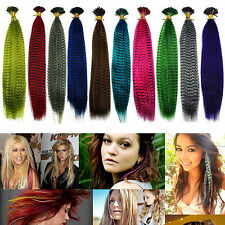 "5/10/20PCS 10 Color Choose 16"" Grizzly Synthetic Feathers Hair Extensions"