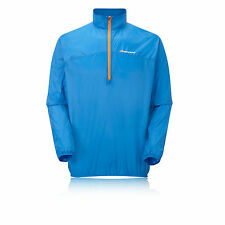 Montane Featherlite Mens Blue Water Resistant Windproof Pull On Trail Top New