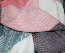 Large Check Plaid Pink Shawl Scarf