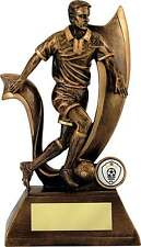 Football Trophies Resin Gold Football Male Figure Award 4 Sizes FREE Engraving