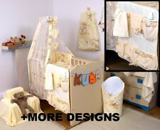 YELLOW TEDDY - COT ORGANIZER + NURSERY COT - COT BED SET WITH CANOPY+ MORE