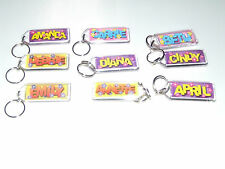 PERSONALISED NAME KEYRING KEY CHAIN GIRLS NAMES BEGINNING WITH (F G H I J K L)