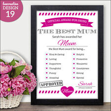 Best Mum Mothers Day Award - Mothers Day Gifts Cards Present - Mummy Mothers