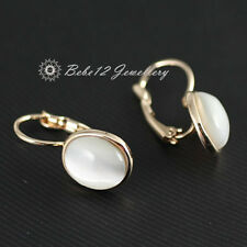 Simulated Opal Oval Drop Earring/Swarovski Elements/Rose gold/RGE563