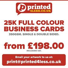 25000 BUSINESS CARDS PRINTED FULL COLOUR 350GSM SINGLE DOUBLE SIDED FLYERS 350