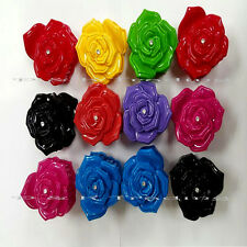 """6pcs Rose Hair Clip Jaw Clamp Comb Claw  Pin Flower Flora Mix Colors Updo Lot 3"""""""