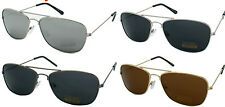 CLASSIC AVIATOR COP STYLE METAL FRAME DARK MIRROR RECTANGULAR LENS SUNGLASSES