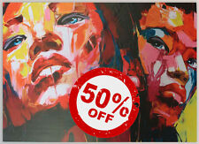 Orange Ladies [50x70] FRANCOISE NIELLY Palette knife style Modern art canvas