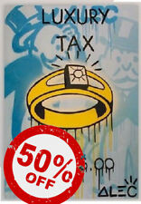 Luxury Tax [60x90] ALEC Monopoly Modern Graffiti street urban art Giclee canvas