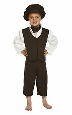 Girl Boy Victorian Oliver Twist Style Book Day Fancy Dress Costume Various Sizes