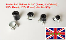 Braided Rubber Hose End Caps for 9mm - 10.5mm OD Hose  with Steel clips M0