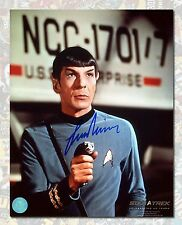 "Leonard Nimoy Autographed ""Spock"" Star Trek 8x10 Photo - AJ Sports World COA"