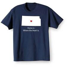Home Is Where The Heart Is T-Shirt - Kansas