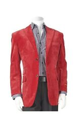 NEW Men's Inserch Casual Sport Jacket Blazer Solid Red Classic Cut FREE SHIP