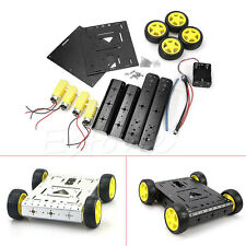 NEW Smart 4WD Drive Aluminum Mobile Car Robot Platform for Arduino Motor