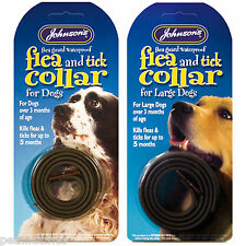 JOHNSONS DOG FLEA & TICK COLLAR WATERPROOF PROTECTS UP TO 5 MONTHS NEW!