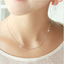 Women Smooth Snake Chain Necklace With Lobster Clasp Pendant Neklace