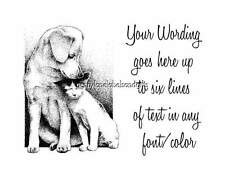 BLACK & WHITE PUPPY DOGS & PUSSYCATS - PERSONALISED ADDRESS STICKY LABELS X 42