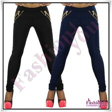 Sexy Ladies Treggings Skinny Womens Trousers Casual Pants Size 8,10,12,14,16 New