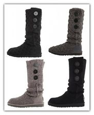 Womens Ugg Australia Classic Cardy Wool Knit Boots NEW Authentic