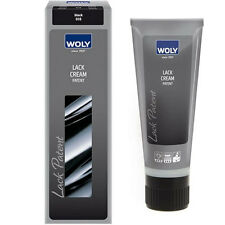 Woly Lack Cream for Patent Leather and Plastic Patent  Black and Neutral