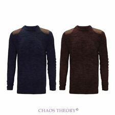 Brave Soul New Mens Winter Crew Neck Jumper Fashion Knit Classic Sweater S-XL