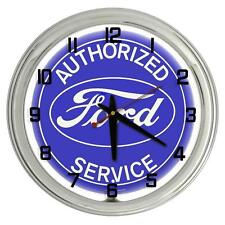 "Authorized Ford Service 17"" Neon Clock from Redeye Laserworks"