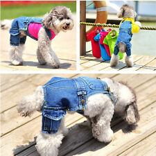 Fashion Denim Pet Dog Puppy Jeans Clothing Soft Jeans Clothes Dog Puppy Spring