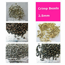 Crimp Beads 2.5mm Plated Copper Gold Silver Platinum Brass Jewelry Findings