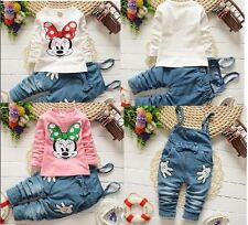 2pcs cotton kids baby Girls tops+ pants rompers Outfits autumn clothing clothes
