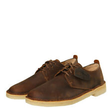 New Mens Clarks Originals  London Desert Shoes - Brown Beeswax 100% Leather