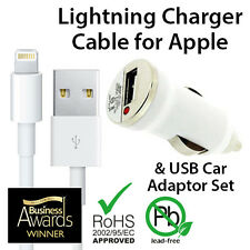 Genuine USB Car Adaptor & Sync Charger Cable for iPhone 6 6s 6plus 5 5C 5S iPad