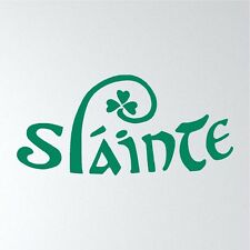 SLAINTE - Cheers Irish Celtic Bar Decor custom vinyl wall decal