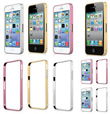 1*Glossy Bumper Hard Case Cover Metal Aluminum Fitted Frame For iPhone 4 4S 5 5S