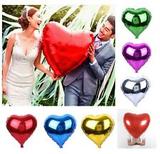 "30"" Giant Foil Balloon Jumbo Heart Shape Love Bride Wedding Birthday Valentines"