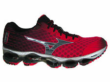 NEW MENS MIZUNO WAVE PROPHECY 4 IV RUNNING SHOES TRAINERS SHIN RED / BLACK / SIL