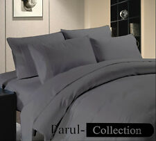 New 600-800-1000-1200TC Grey Solid 1000TC 100% Egyptian Cotton US Bedding Item