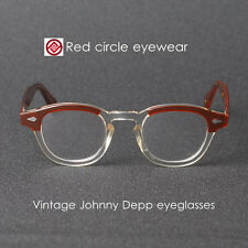 Retro vintage Johnny Depp eyeglasses S brown crystal frame clip on sunglasses