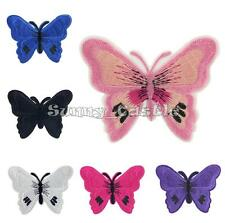 Colorful Butterfly Embroidered Applique Iron On Sew Clothes Patch DIY Accessory