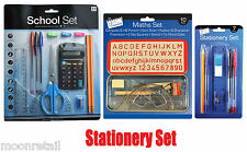 Stationary School Set Pens Pencil Case Calculator Equipment Office Home Basic