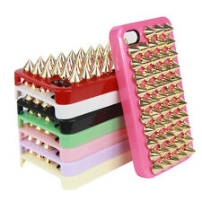 Metallic Rivets Spikes Hard Back Fitted Case Skin Cover for Apple iPhone 4 4S