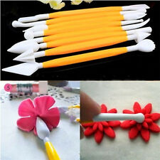 8pcs Sugarcraft Cake Decorating Fondant Flower Modelling Craft Tool Cutter New