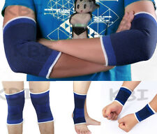 US 1 pair Elastic Series Knee Wrist Ankle Elbow Support Brace Gym Sports Bandage