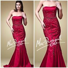 NWT MAC DUGGAL 7893D MARMAID STRAPLESS GOWN IN GARNET AUTENTIC $1198 LOW PRICE